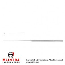 "Rhoton Micro Hook Angled 90° - Blunt Stainless Steel, 18.5 cm - 7 1/4"" Tip Size 2 mm"