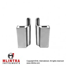 Lateral Blades Pair Fig. 1 Stainless Steel, Blade Size 60 x 60 mm