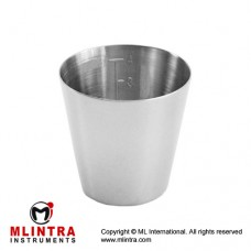 Medicine Cup Stainless Steel, Capacity 50 cc