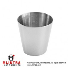 Medicine Cup Stainless Steel, Capacity 25 cc