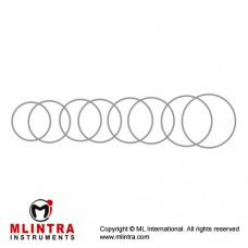 Flieringa Scleral Fixation Ring Set of 9 Stainless Steel,