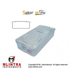 Surticon™ Sterile Container 1/1 Bio-Barrier Model Grey Perforated Lid Stainless Steel - Aluminium, Size 580 x 280 x 155 mm