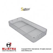 Surticon™ Sterile 1/1 Wire Mesh Basket Without Lid Stainless Steel, Size 540 x 250 x 50 mm