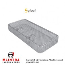 Surticon™ Sterile 1/1 Wire Mesh Basket With Lid Stainless Steel, Size 480 x 250 x 50 mm