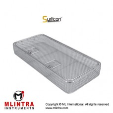 Surticon™ Sterile 1/1 Wire Mesh Basket With Lid Stainless Steel, Size 480 x 250 x 70 mm