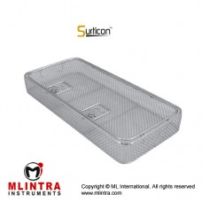 Surticon™ Sterile 1/1 Wire Mesh Basket With Lid Stainless Steel, Size 540 x 250 x 30 mm
