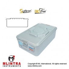 Surticon™ Sterile Container 3/4 Bio-Barrier Model Grey Perforated Lid Stainless Steel - Aluminium, Size 465 x 280 x 140 mm