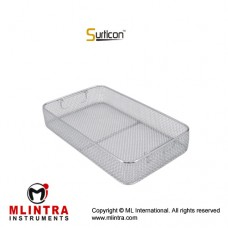 Surticon™ Sterile 3/4 Wire Mesh Basket Without Lid Stainless Steel, Size 405 x 250 x 70 mm