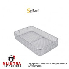 Surticon™ Sterile 3/4 Wire Mesh Basket Without Lid Stainless Steel, Size 405 x 250 x 100 mm