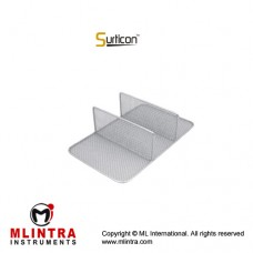 Surticon™ Sterile 3/4 Divider Three Partitions Stainless Steel, Size 405 x 250 x 130 mm
