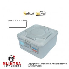 Surticon™ Sterile Container 1/2 Bio-Barrier Model Grey Perforated Lid Stainless Steel - Aluminium, Size 285 x 280 x 265 mm