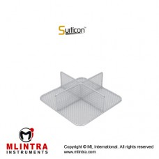 Surticon™ Sterile 1/2 Divider 4 Partitions Stainless Steel, Size 255 x 245 x 180 mm