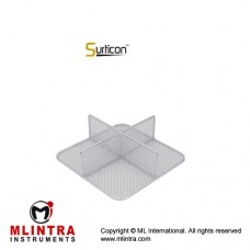 Surticon™ Sterile 1/2 Divider 4 Partitions Stainless Steel, Size 255 x 245 x 130 mm