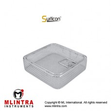 Surticon™ Sterile 1/2 Wire Mesh Basket With Lid Stainless Steel, Size 255 x 250 x 100 mm