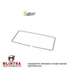 Surticon™ Sterile Mini Model Drape Retainer Stainless Steel, Size 270 x 125 mm