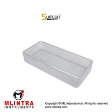 Surticon™ Sterile Mini Model Wire Mesh Basket Without Lid Stainless Steel, Size 267 x 125 x 50 mm