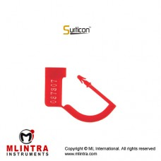 Surticon™ Sterile Security Seal Red With Numbers Plastic,