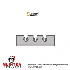 Surticon™ Sterile Silicone Fixation System Stainless Steel - Silicone, Size 72 x 30 mm