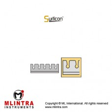 Surticon™ Sterile Silicone Fixation System Stainless Steel - Silicone, Size 72 x 20 mm