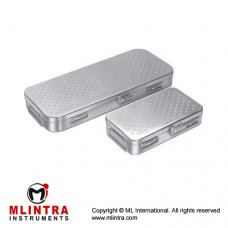 Storing Case Perforated Lid and Bottom Stainless Steel, Size 275 x 235 x 50 mm