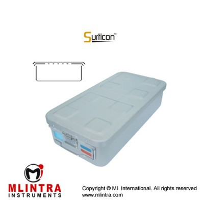 Surticon™ Sterile Container 1/1 Basic Safe Model Yellow Perforated Lid Stainless Steel - Aluminium, Size 580 x 280 x 100 mm