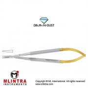 Diam-n-Dust™ Micro Needle Holder Straight - Round Handle Stainless Steel, 14 cm - 5 1/2""