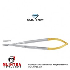 Diam-n-Dust™ Micro Needle Holder Straight - Round Handle - With Lock Stainless Steel, 14 cm - 5 1/2""
