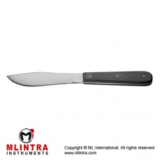 "Virchow Autopsy Knife With Wooden Handle Stainless Steel, 25.5 cm - 10"" Blade Size 100 mm"